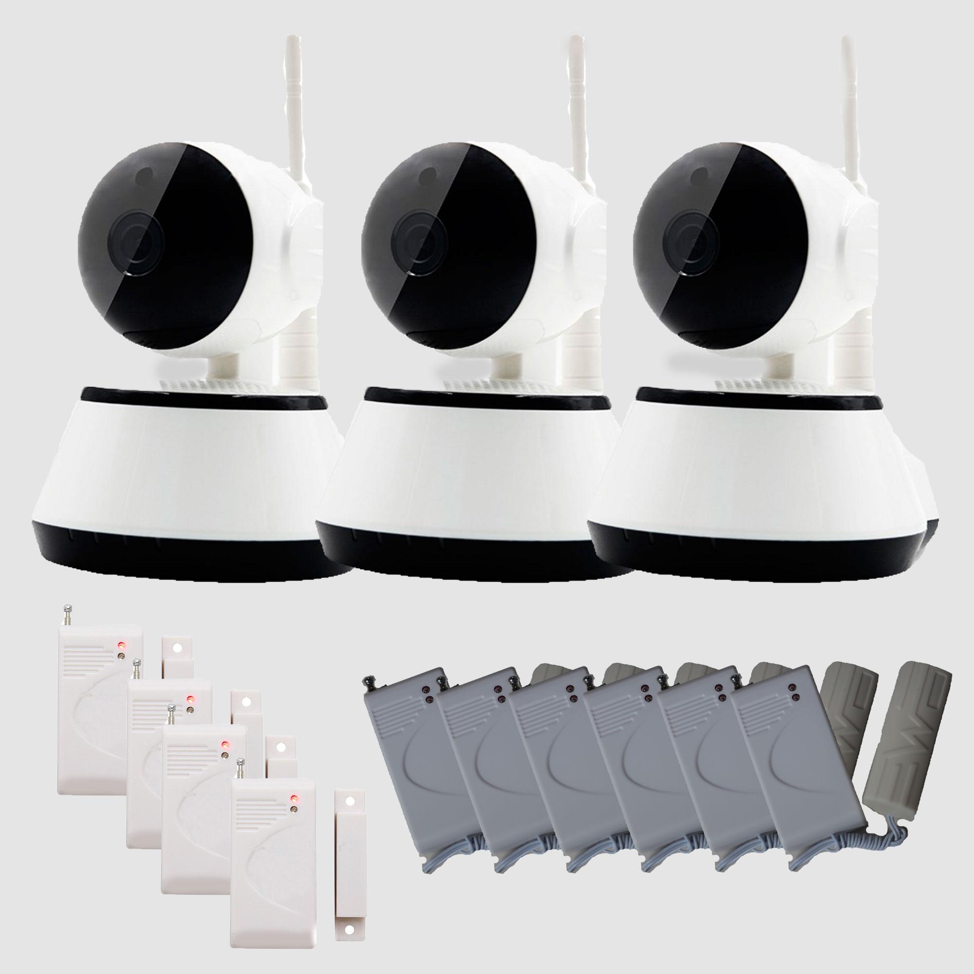 Kit 3 camaras ip wifi 4sensor puerta 6 sensor vibracion 2939 0 akizi - Camara mirilla puerta wifi ...