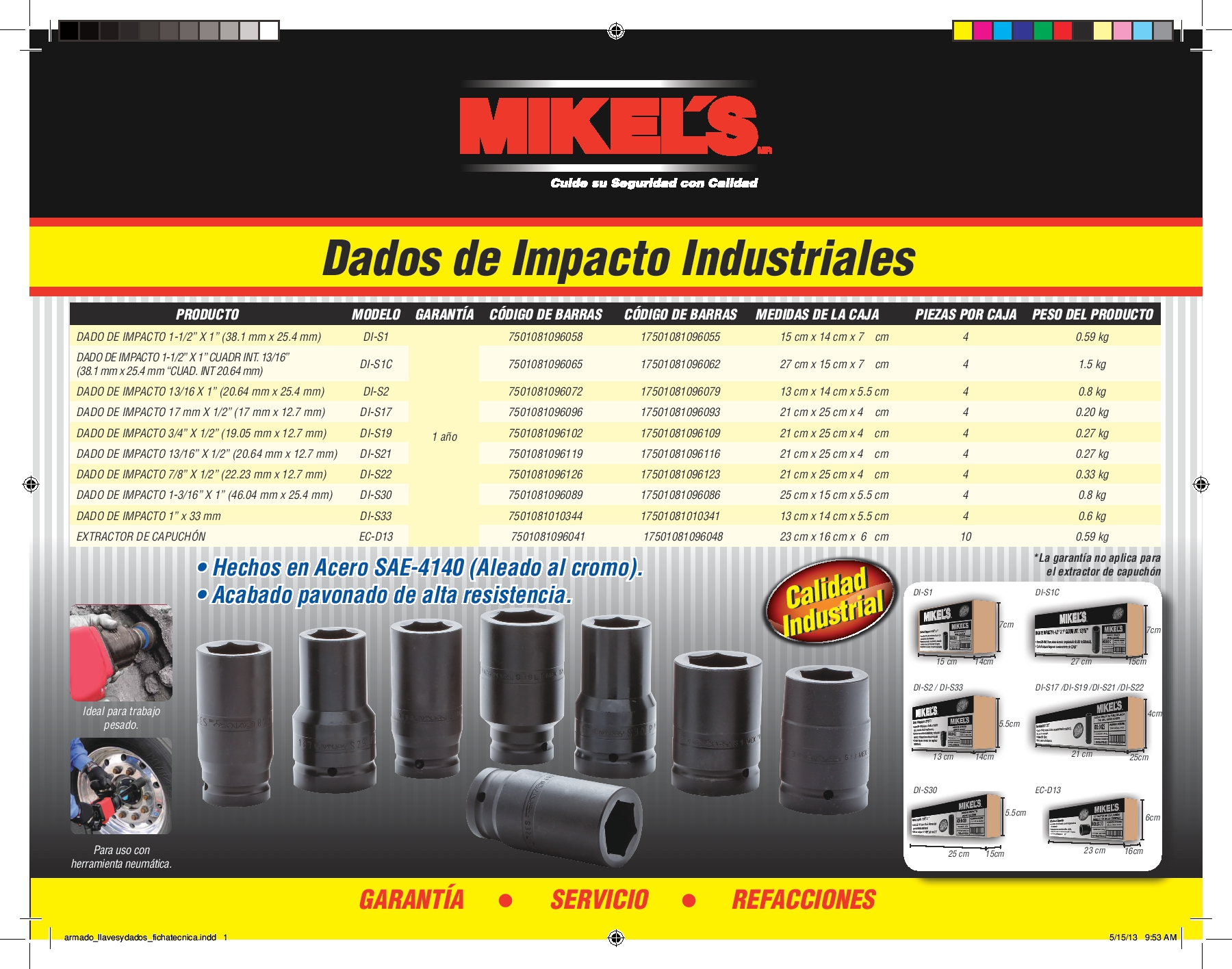 dado de impacto 3 4 x 1 2 iindustrial 209 0 akizi. Black Bedroom Furniture Sets. Home Design Ideas